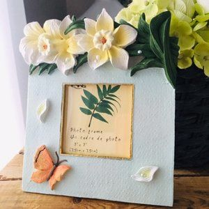 Miniature Floral/Butterfly Picture Frame!